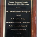 Commendation, Eleanor Roosevelt Regular Democratic Club of Queens, 2012
