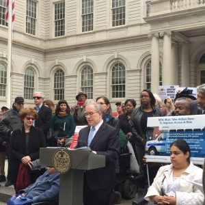 Seniors have been badly served by MTA. City Comptroller Scott Stringer announcing the audit at a press conference. India Home was there.