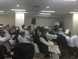 Elders at the celebration marking the beginning of Ramadan at the Desi Senior Center